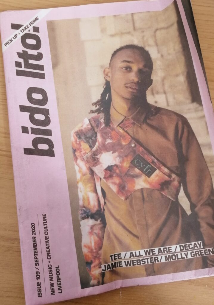 """Bido Lito"" magazine issue 109 September 2020 laid on a wooden table."