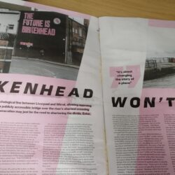 "two-page magazine spread featuring the headline ""Birkenhead Won't Die"""