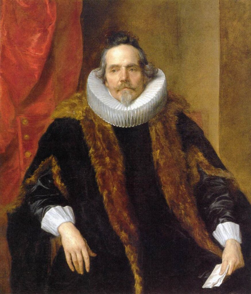 Portrait of a man in a starched ruff but soft fur-trimmed robe